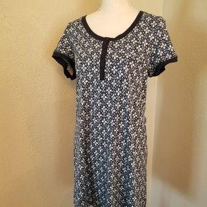 Lucky Brand Cotton Dress Blue/White Sz M